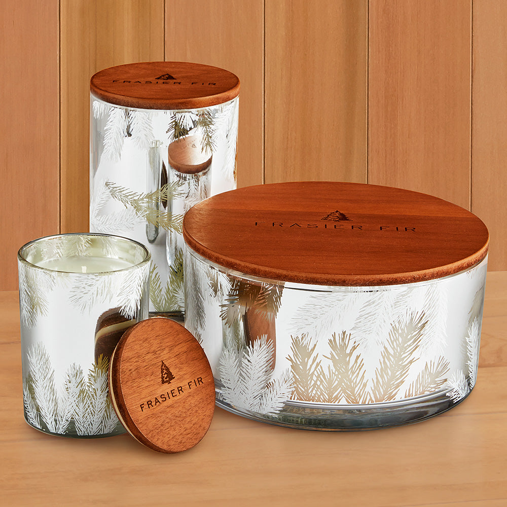 Thymes Frasier Fir Statement Collection Luminary Lidded Candle