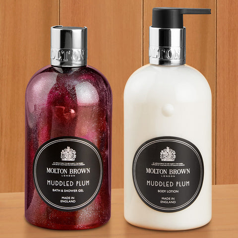 Molton Brown Shower Gel and Body Lotion, Muddled Plum