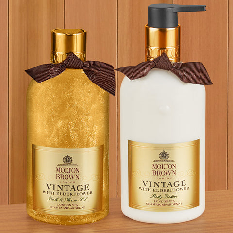 Molton Brown Shower Gel and Body Lotion, Vintage with Elderflower
