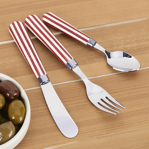 Quid Novi Transatlantic Flatware, Red