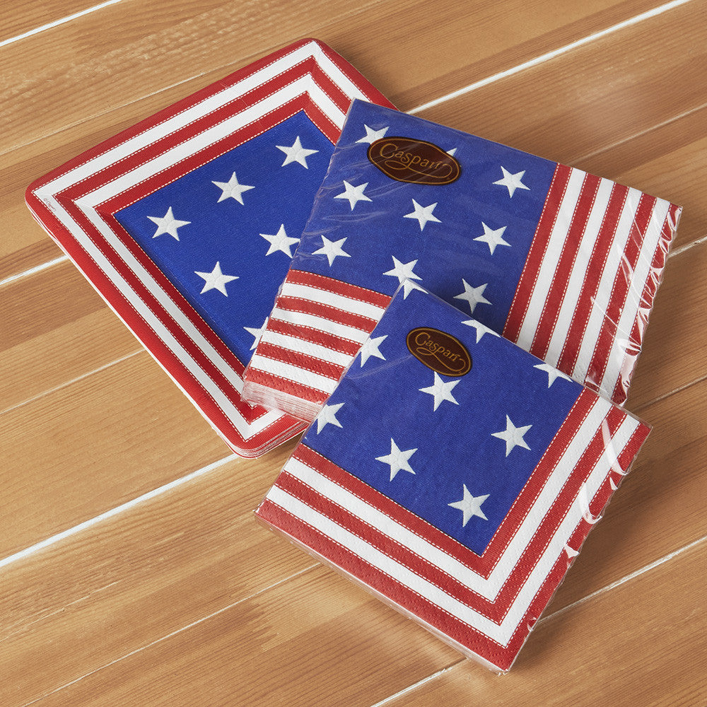 Star Spangled Paper Plates
