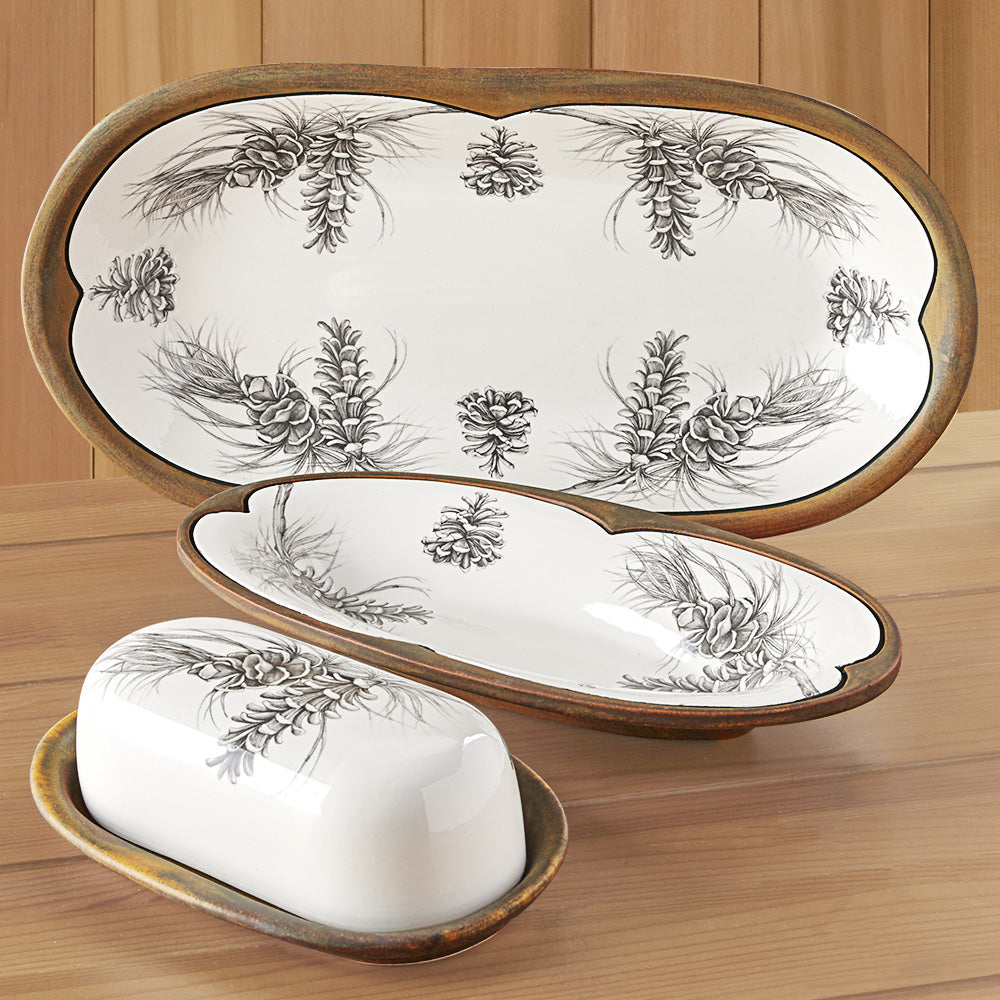 Laura Zindel Pine Branch Serving Dish