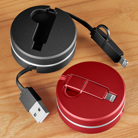 Retractable 2-in-1 Lightning/Micro USB Phone Charger