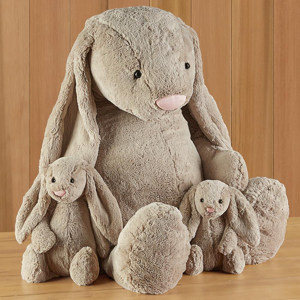 Bashful Bunny Stuffed Animal by Jellycat, Beige