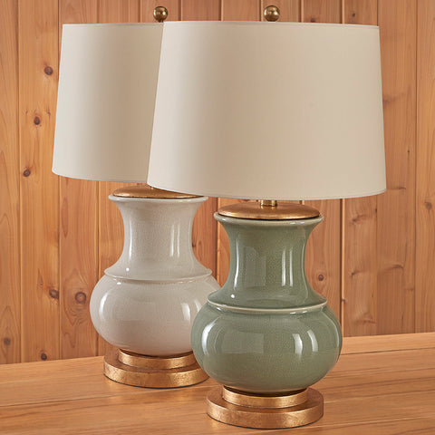 Visual Comfort Deauville Ceramic Crackle Table Lamp