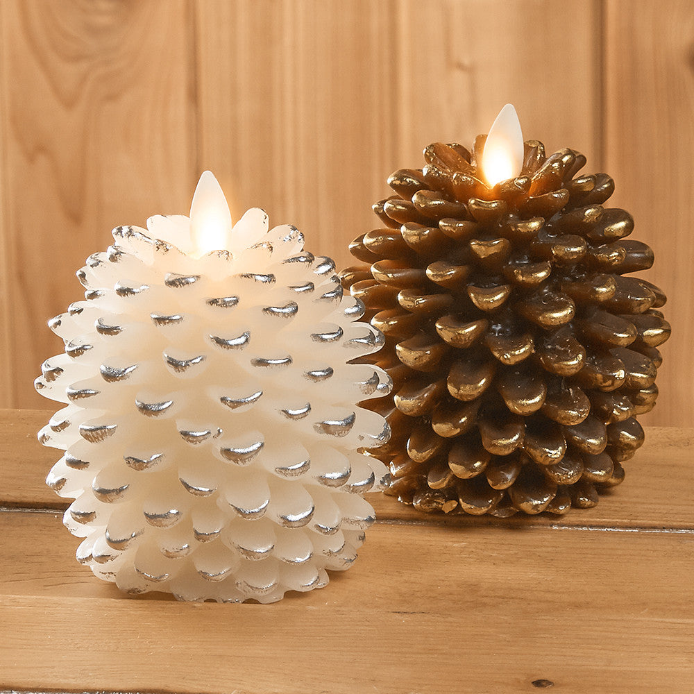 Luminara Flameless Pine Cone Candle
