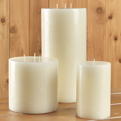 White Unscented Pillar Candle