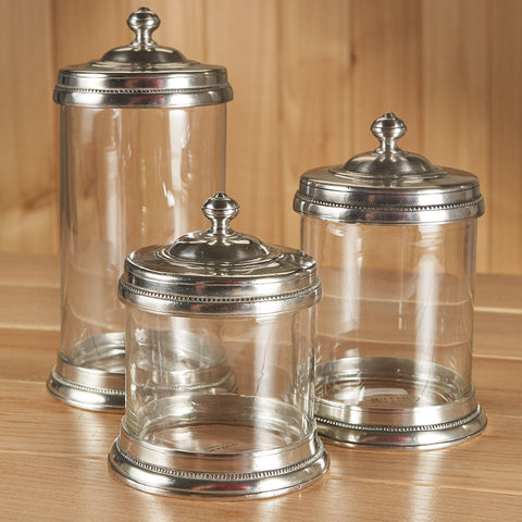 Glass Canister by Match Pewter
