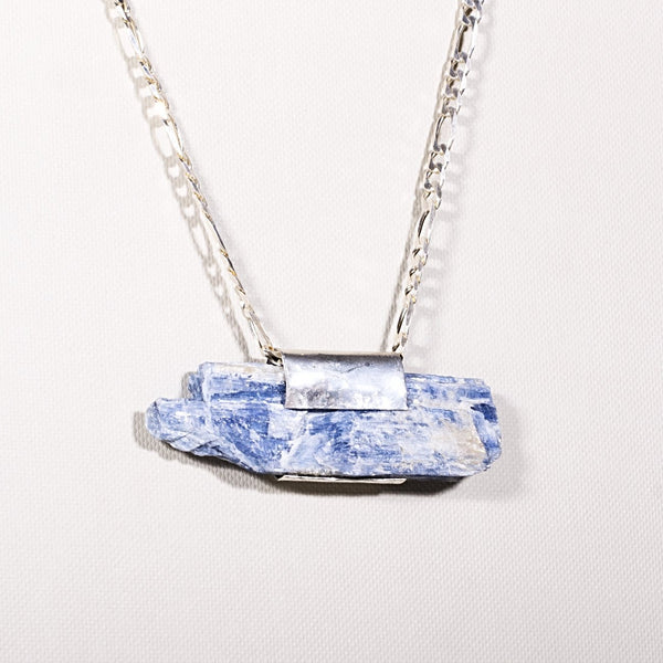 Pure Silver: Kyanite, big