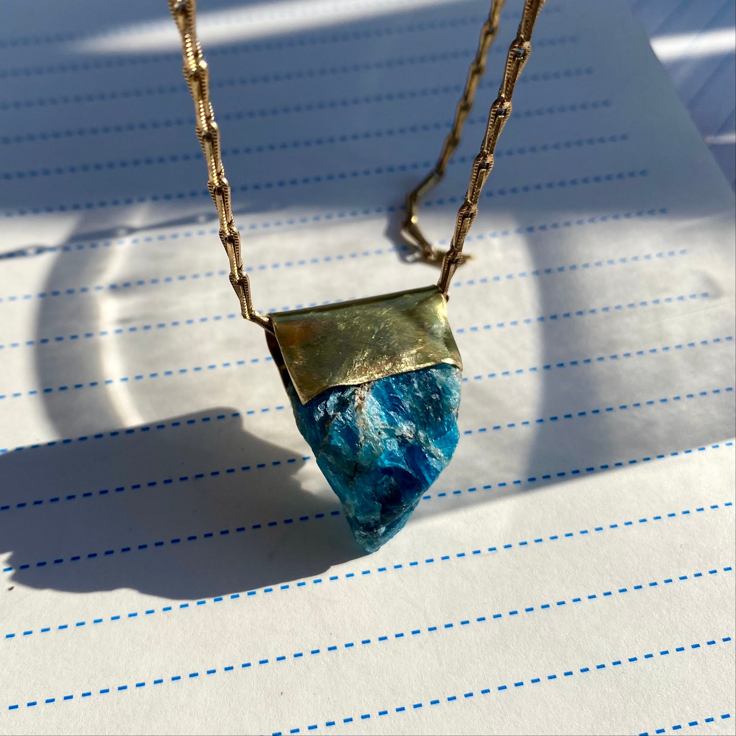 Brass Apatite Necklace