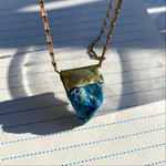 Load image into Gallery viewer, Brass Apatite Necklace