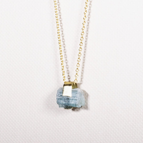 Pure Gold (14K): Blue Tourmaline / Indigolite