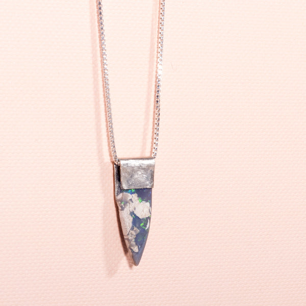 Pure Silver: Small Boulder Opal