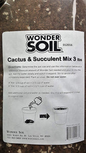 Premium Expanding Cactus and Succulent Living Soil Planting Mix