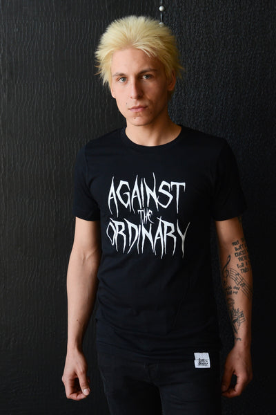Against the Ordinary Print Short Sleeve Men's Tee with METAL Graphic