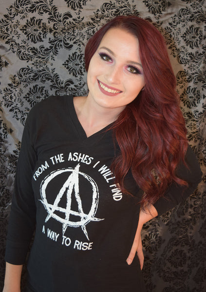 """FROM THE ASHES"" Women's Hooded Tee"