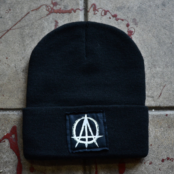 ATO Logo Black Beanie with Black Stitched Label