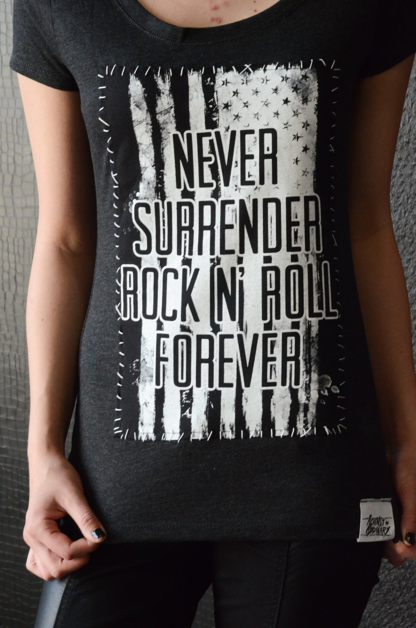 """Never Surrender Flag"" Women's Tee"