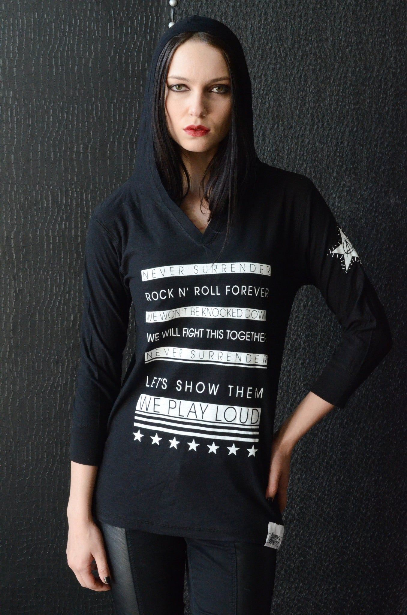 """Play Loud"" Women's Hooded Shirt"