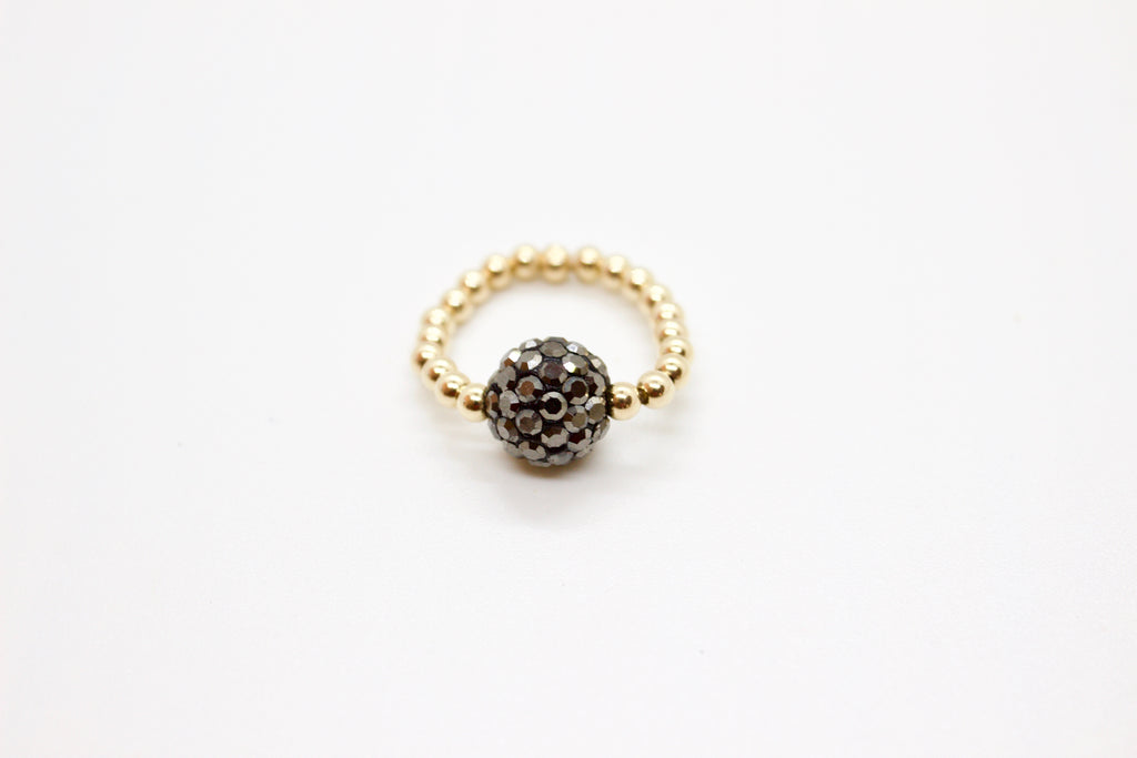 pave ball ring