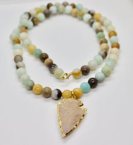 arrowhead earth necklace