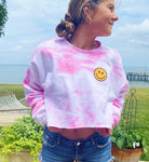 cropped smiley sweatshirt