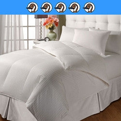 Limoges: 750 Fill Power White Down, 315 Thread Count Sateen 100% Cotton Damask Stripe Baffle Box