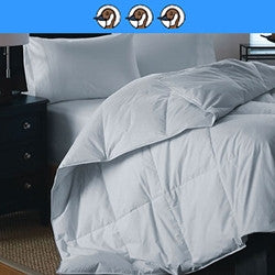 Lorient: Mid-warmth 300 Thread Count 100% Cotton 750 Fill Power White Down Comforter