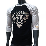 Lords & Lions Raglan Lion Crest Black & White
