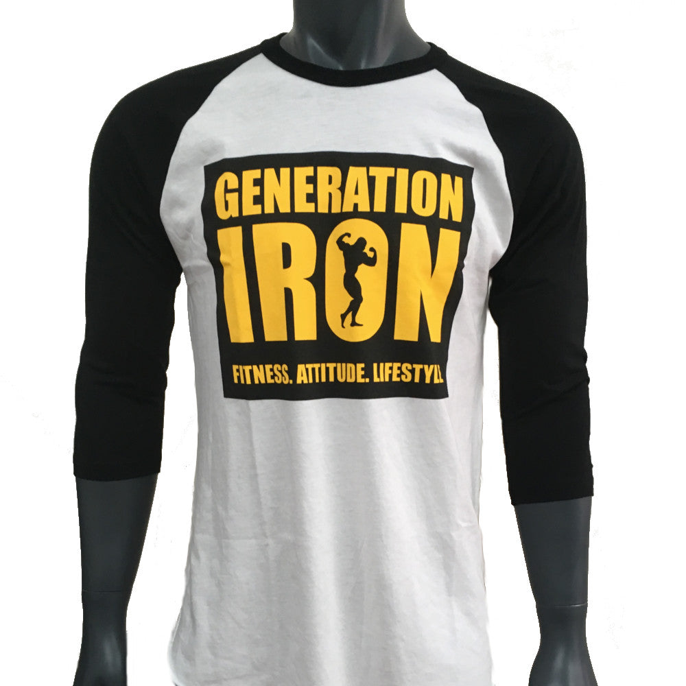 Generation Iron LIFT, HEAVY, REPEAT Baseball Tee
