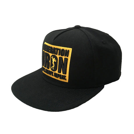 Generation Iron LIFT, HEAVY, REPEAT Snapback Hat (Black)