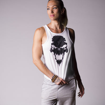 Strength Wars Skull Tank (White)