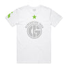 Generation Iron Green Star Tee - White