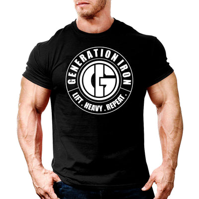 Generation Iron Classic Black & White Stamp Tee