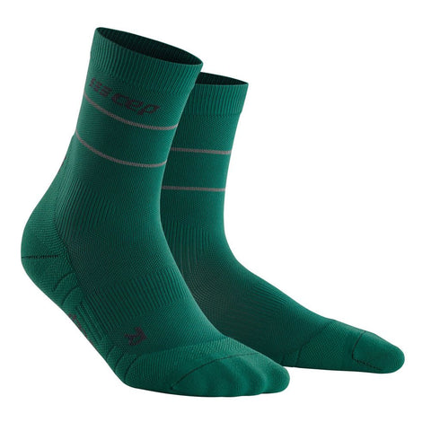 """CEP Men- Reflective Compression Mid Cut Sock"""