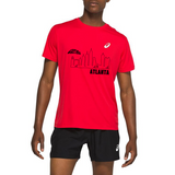 Asics Men's Silver Short Sleeve - Skyline Logo