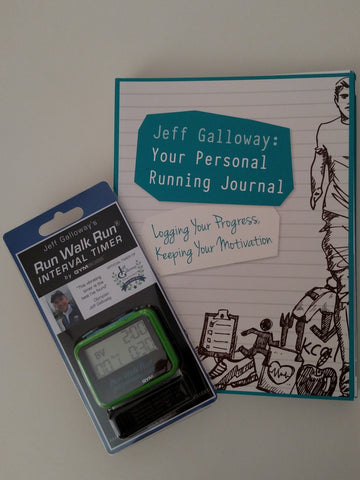 Starter Kit for all runners (Your Personal Running Journal + Run Walk Run Vibrating Timer)