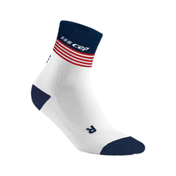 """CEP Women- Compression Old Glory Mid Cut Sock"""