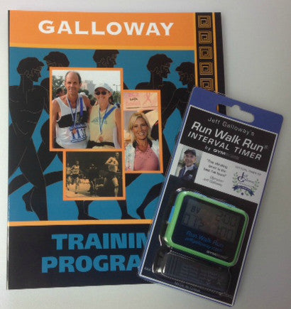 Starter Kit For Half and Full Marathoners (Galloway Training Programs + Vibrating Timer) - Jeff Galloway's Phidippides E-Shop