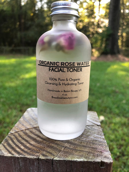 Organic Rose Water Facial Toner