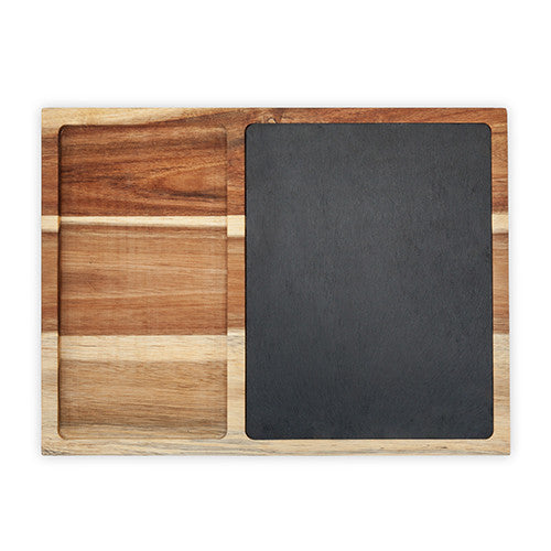 Rustic Farmhouse™ Slate and Wood Appetizer Board by Twine