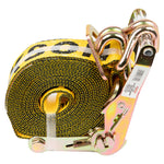 "2"" x 20' 10,000 lb Ratchet Strap w/DJH & Floating D-Ring"