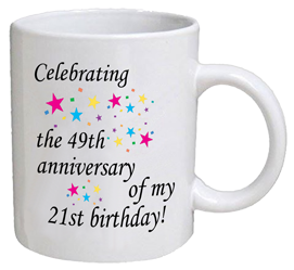 COFFEE MUG - anniversary - 70