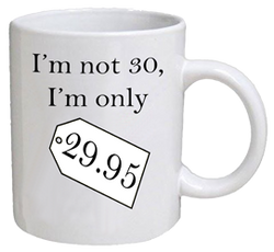 COFFEE MUG - price tag - 30