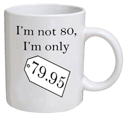 COFFEE MUG - price tag - 80