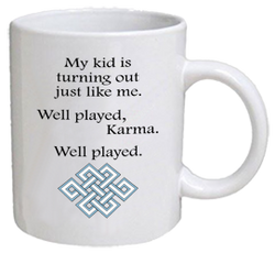 COFFEE MUG - well played karma