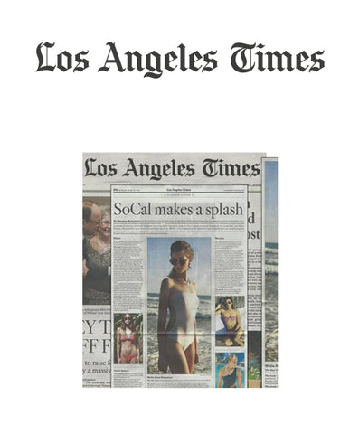 Malia Jones on Los Angeles Times