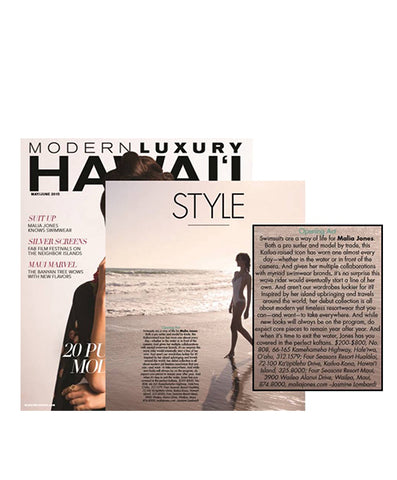 Malia Jones on Modern Luxury Hawaii