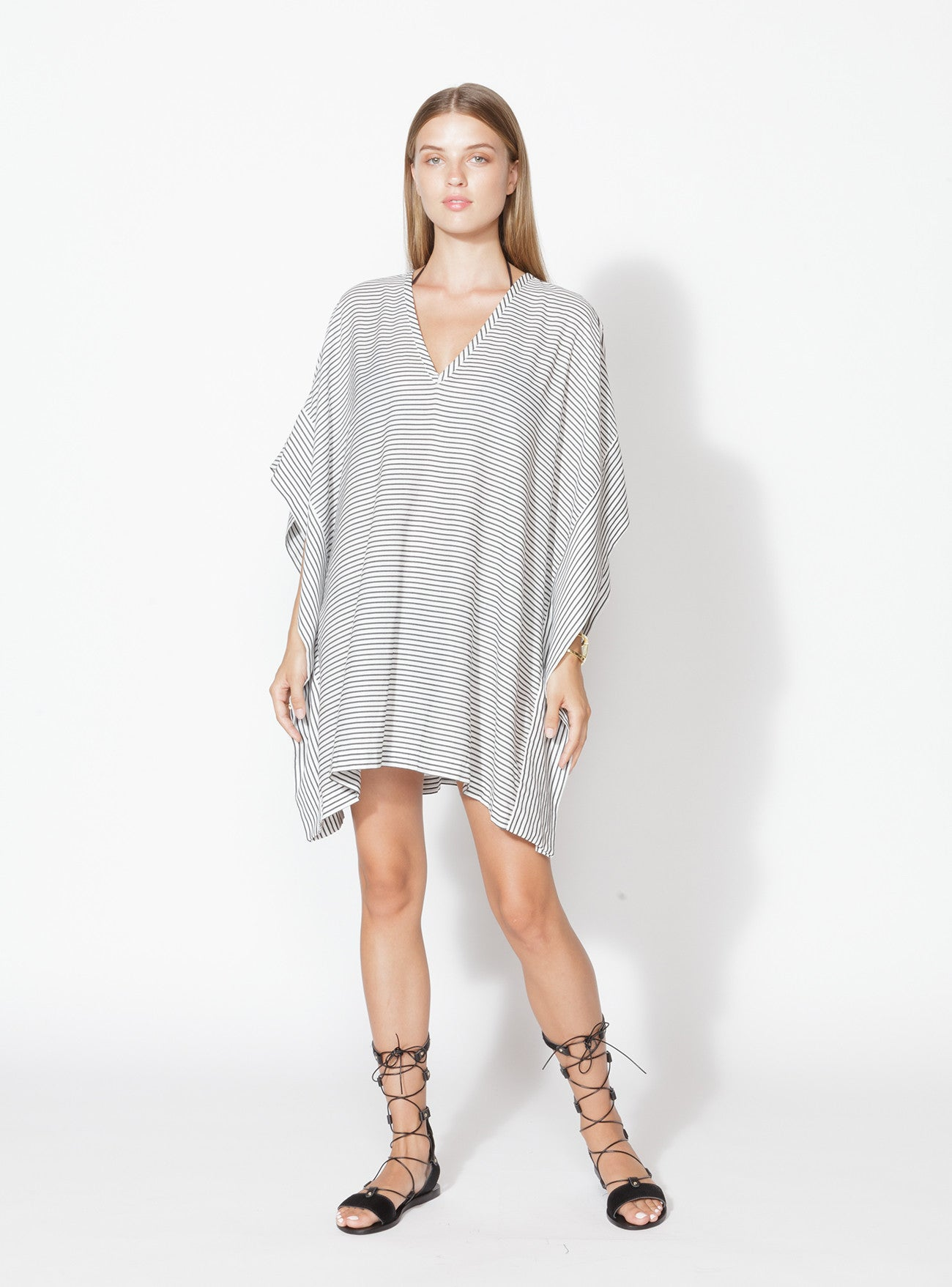 K-003-1 Short Striped Kaftan