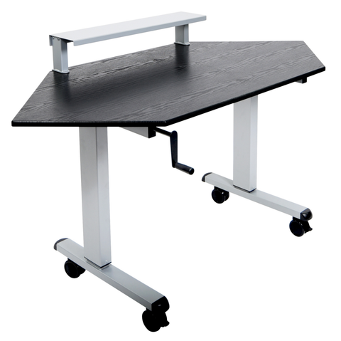 60″ Crank Adjustable Standing Corner Desk
